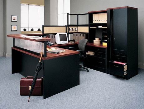 Image of: Ideas for Arranging Furniture In a Home Office