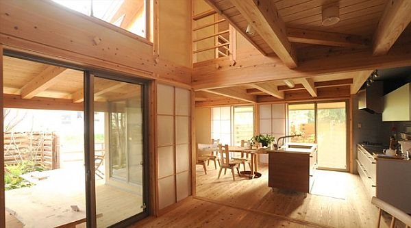 Japanese Kitchens with Traditional Side