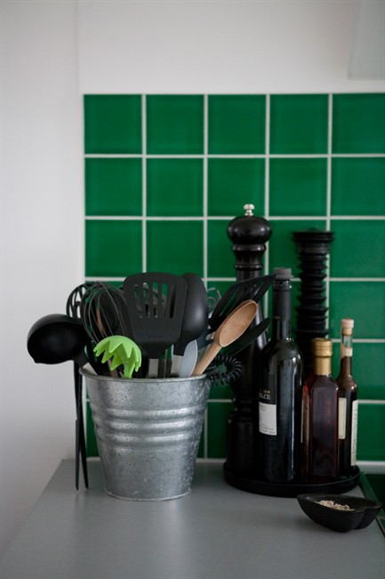 Kitchen Green Tiles