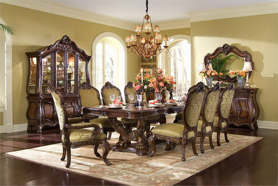 Image of: Large Dining Room Design for Family Gathering