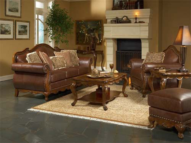 Image of: Living Room Decorating Ideas with Brown Furniture