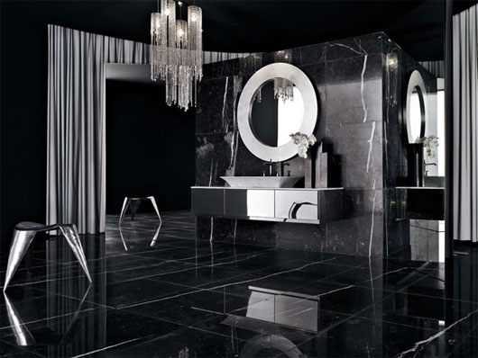 Image of: Modern Luxury Bathroom Design in Black