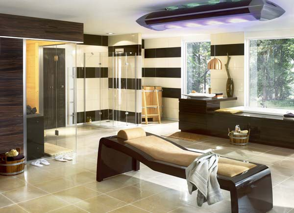 Image of: Luxury Bathroom Design with Sauna