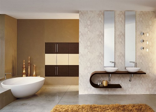 Image of: Luxury Modern Minimalist Bathroom Design