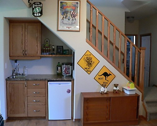 Image of: Minibar under The Stairs