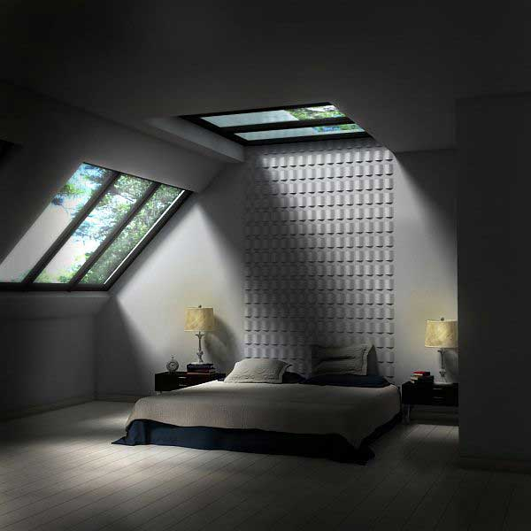 Image of: Minimalist Attic Bedroom Ideas