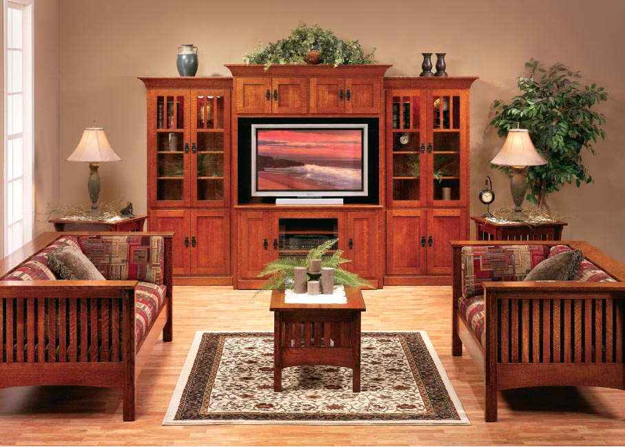 Image of: Mission Style Living Room Furniture
