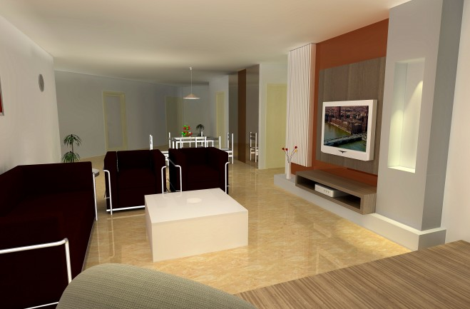 Modern Contemporary Living Hall Interior