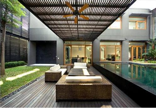 Image of: Modern Courtyard Design Minimalist House