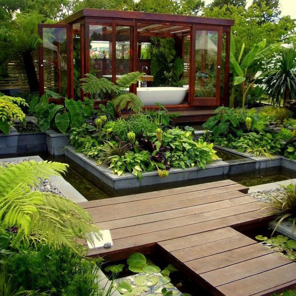 Image of: Modern Garden Design
