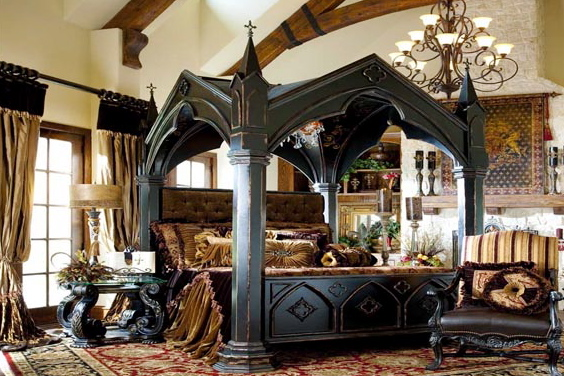 Image of: Modern Gothic Bedroom