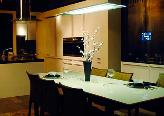 Image of: Modern Lighting Dining Room Trends