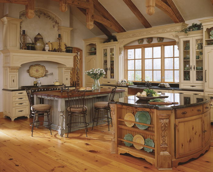 Image of: Old World Style Kitchens