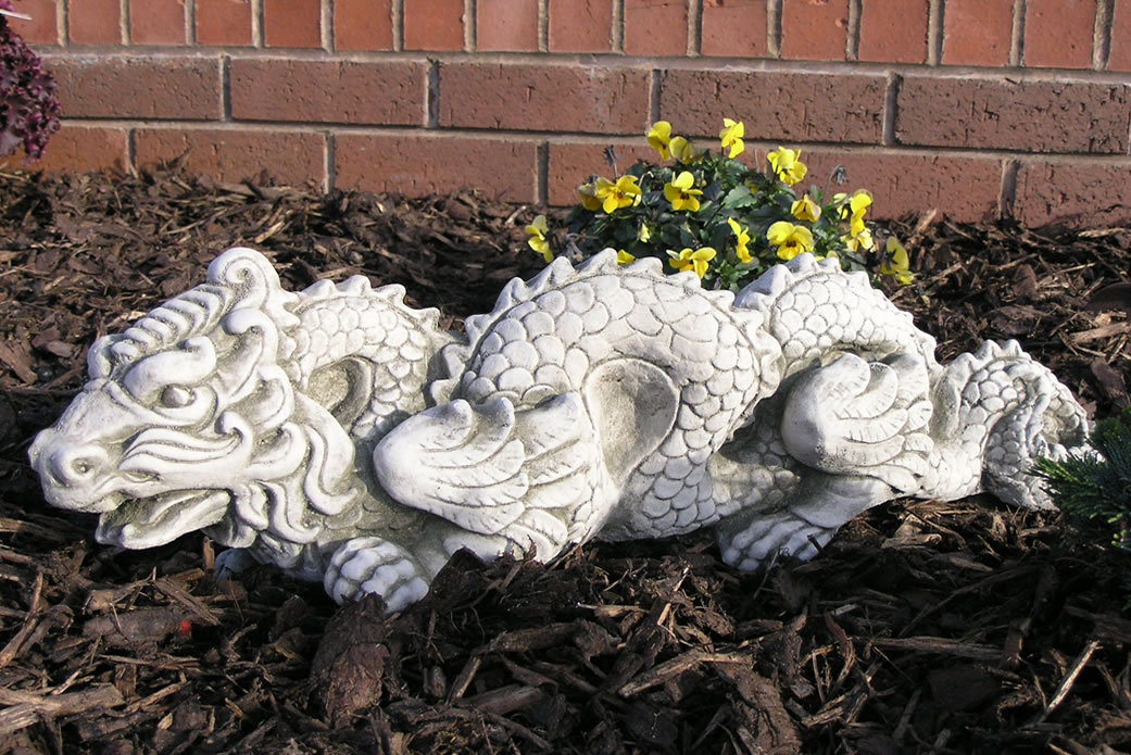 Image of: Oriental Concrete Dragon Statue
