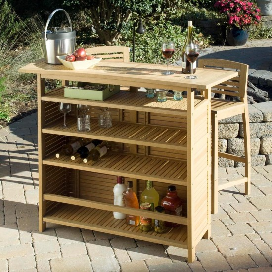 Image of: Outdoor Bar Cabinet