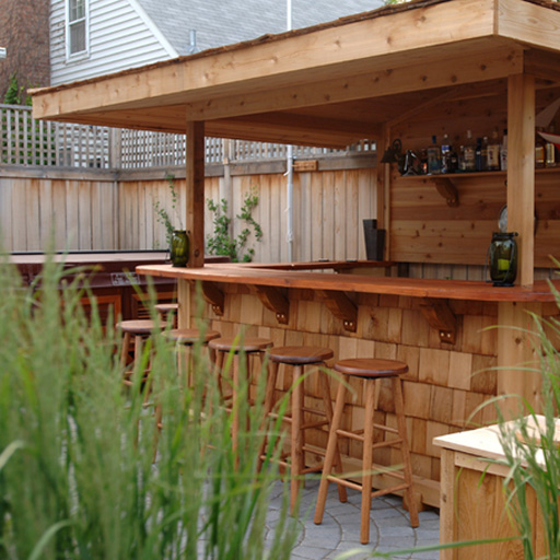 Image of: Outdoor Home Bar