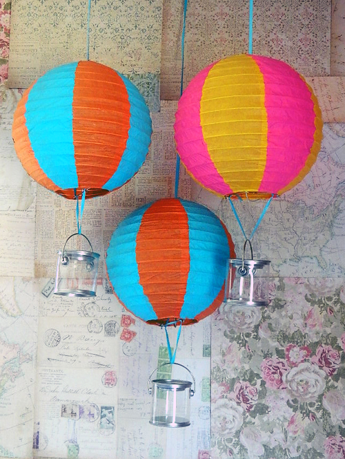 Image of: Paper Lantern Hot Air Balloon in the Bedroom