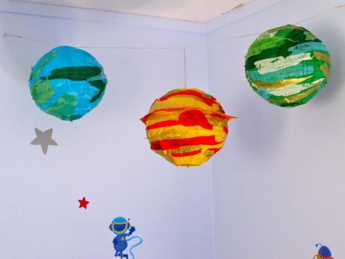 Image of: Planet Paper Lantern in Bedroom