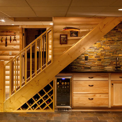 Image of: Practical Minibar under Stairs