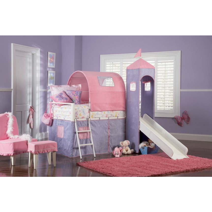 Image of: Princess Castle Twin Bunk Bed