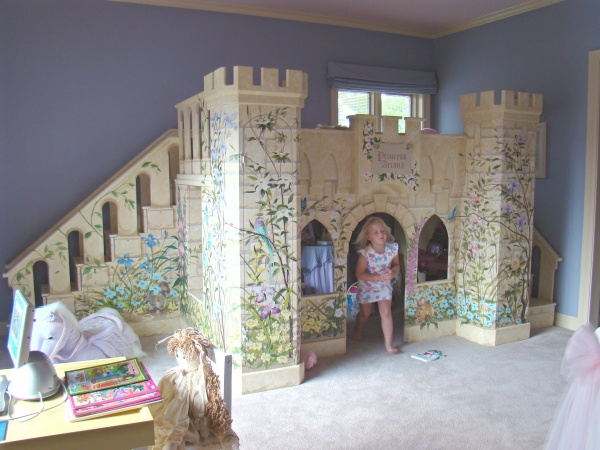 Princess Loft Bed Castle Design