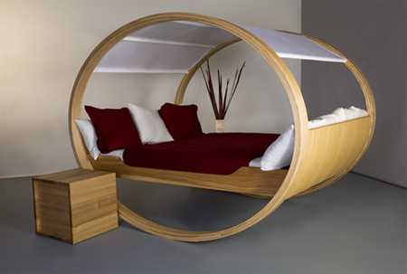 Image of: Private Cloud Rocking Bed