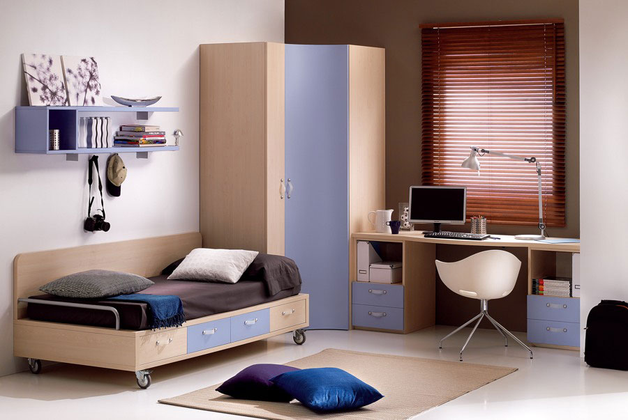 Purple Brown Teens Room