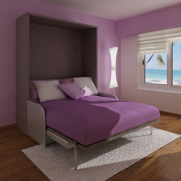 Purple Convertible Modern Bed