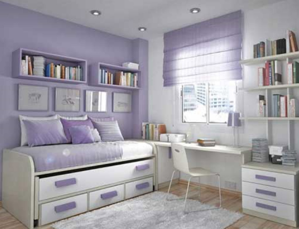 Image of: Purple Teen Bedroom Furniture