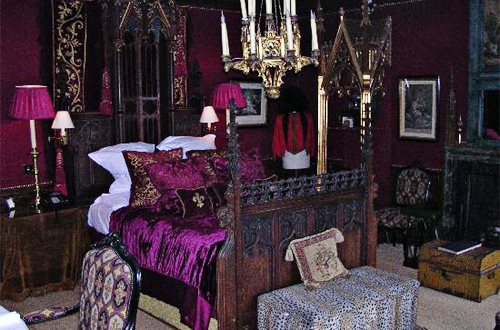 Purple Victorian Gothic Bedroom