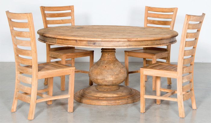 Image of: Round Rustic Dining Room Table