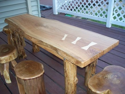 Rustic Farm Table for Outdoor