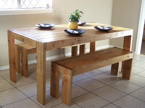 Image of: Rustic Farm Table