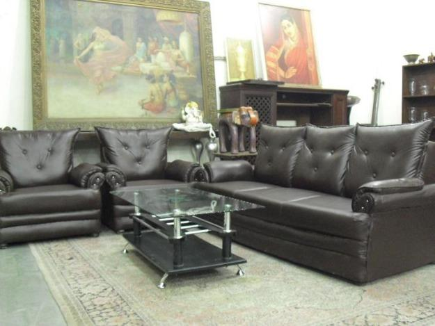 Image of: Seater Brown Sofa