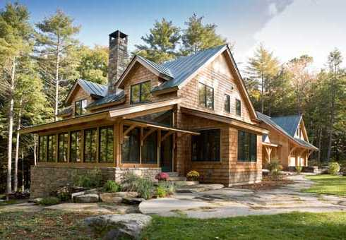 Shingle Sided Cottage inspired by the Craftsman Style