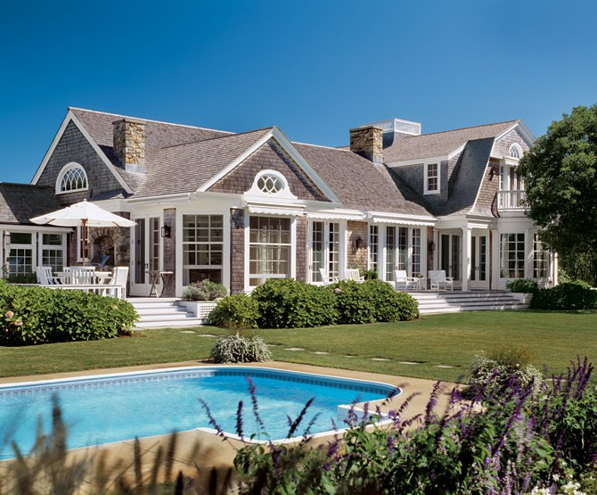 Shingle Style House with Pool