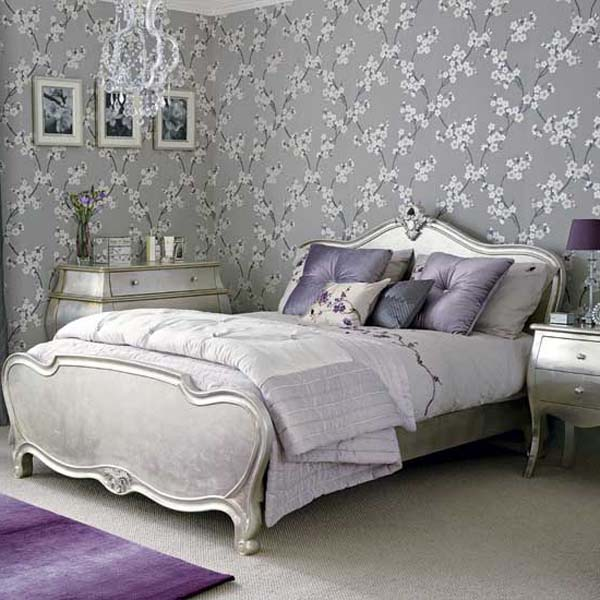Image of: Silver Bedroom Decoration