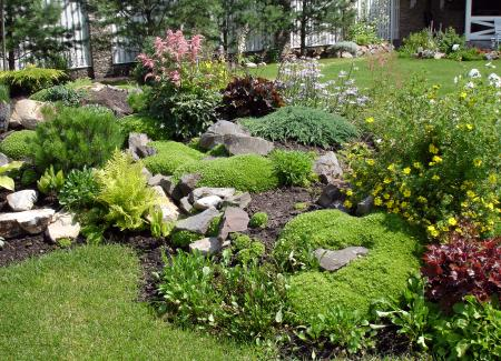 Image of: Simple Minimalist Rock Modern Garden