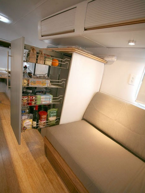 Image of: Sliding Pantry for Small Spaces