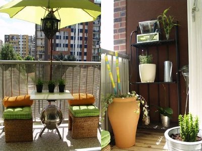 Image of: Small Balcony Decor Idea