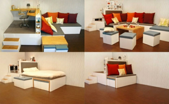 Image of: Smart Small Spaces Furnishing Idea
