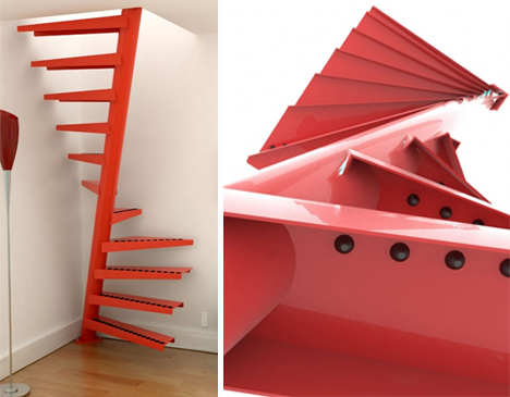 Image of: Spiral Stairs for Small Spaces