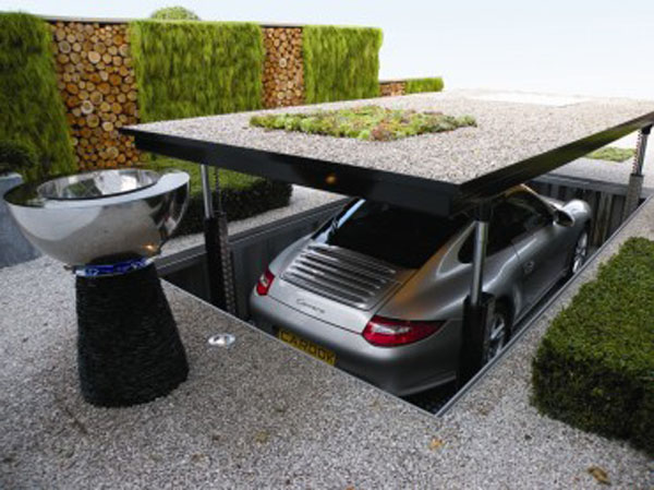 Image of: Stylish Underground Garage Design Idea
