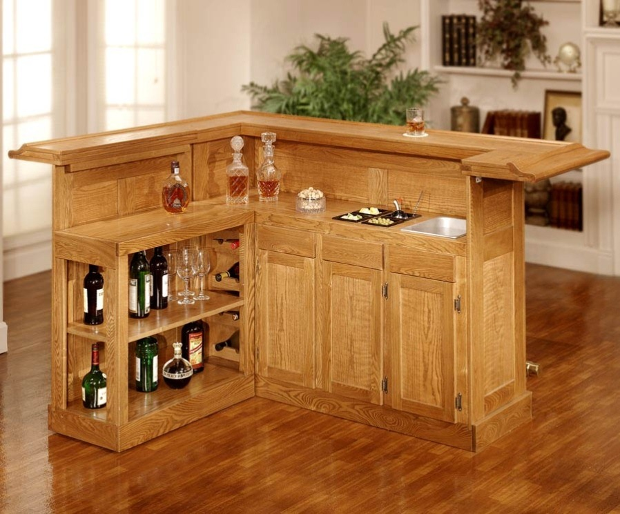Image of: Superb Wood Home Bar