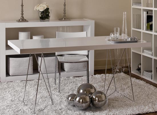 Image of: The Metro Contemporary White Kitchen Table Design