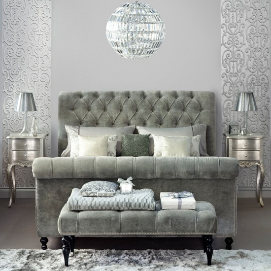 Image of: Traditional Silver Bedroom Ideas