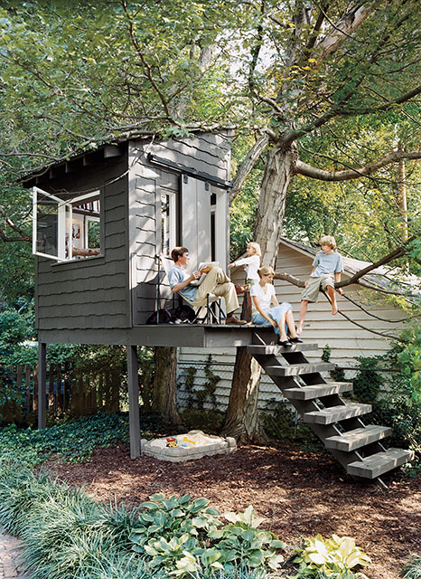 Image of: Tree House Backyard Shed