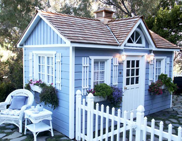 Image of: Trimmed-Out Potting Shed