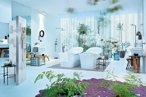 Tropical Feminine Bathroom