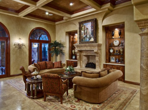Image of: Tuscan  Living Room with Traditional Furniture